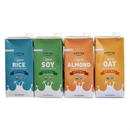 ORGANIC NON DAIRY BEVERAGES OAT, RICE, ALMOND, SOY, HEMP & COCONUT